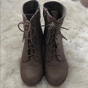 Lace up booties